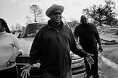 New Orleans, Louisianna.USA.December 1, 2005 ..Hurricane Katrina damage and recovery. As residents of the lower ninth ward return to their homes for the first time the National Guard and police petrol the area. ..