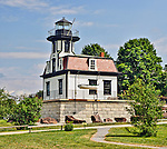 Colchester Reef Lighthouse, originally located in Lake Champlain, now found at the Shelburne Museum in Shelburne, Vermont