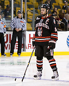 Tyler McNeely (Northeastern - 94) - The Boston College Eagles defeated the Northeastern University Huskies 5-4 in their Hockey East Semi-Final on Friday, March 18, 2011, at TD Garden in Boston, Massachusetts.