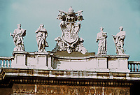 Italy: Rome--Statues along Collonade. Sculptor, Bernini. Photo '82.