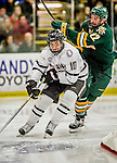 17 October 2015: University of Nebraska Omaha Maverick Forward Tyler Vesel, a Sophomore from Rochester, MN, in second period action against the University of Vermont Catamounts at Gutterson Fieldhouse in Burlington, Vermont. The Mavericks defeated the Catamounts 3-1 in the second game of their weekend series. Mandatory Credit: Ed Wolfstein Photo *** RAW (NEF) Image File Available ***