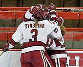 Liza Ryabkina (Harvard - 3), Leanna Coskren (Harvard - 24) - The Harvard University Crimson defeated the St. Lawrence University Saints 8-3 (EN) to win their ECAC Quarterfinals on Saturday, February 26, 2011, at Bright Hockey Center in Cambridge, Massachusetts.