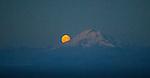 Moonrise next to Mt. Redoubt, Aleutian Range, Alaska
