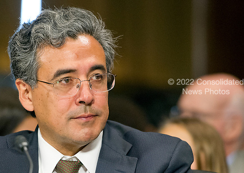 Noel J. Francisco testifies before the United States Senate Committee on the Judiciary on his nomination to be Solicitor General of the US on Capitol Hill in Washington, DC on Wednesday, May 10, 2017.<br /> Credit: Ron Sachs / CNP