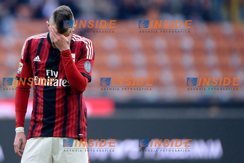 Delusione Jeremy Menez Milan<br /> Milano 18-01-2015 Stadio Giuseppe Meazza - Football Calcio Serie A Milan - Atalanta. Foto Giuseppe Celeste / Insidefoto