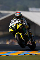 May 22, 2010 - Le Mans, France - Monster Yamaha Tech 3 team's American Colin Edwards powers his bike during a free practice prior the French Grand Prix on May 22, 2010. (Photo Andrew Northcott/Nippon News).