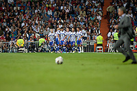 Deportivo de la Coruña goal celebration and Mourinho enter in the play field