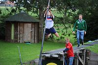 FIERLJEPPEN: IT HEIDENSKIP: 29-06-2016, 1e klasse wedstrijd fierleppen, afgelast wegens regen, Hiske Galama, ©foto Martin de Jong