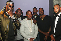 NEW YORK, NY - SEPTEMBER 7, 2016 2 Chainz, Pusha T, Yo Gotti, Fabolous, Kanye West & Swizz Beatz backstage at the G.O.O.D. Music show September 7, 2016 at the Highline Ballroon in New York City. Photo Credit: Walik Goshorn / Mediapunch