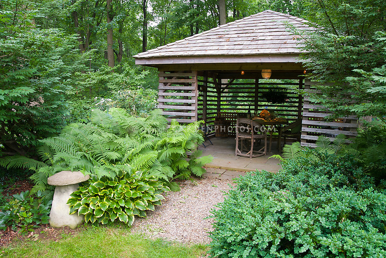 Gazebo house in shade plant flower stock photography - House plants that like shade ...