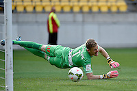 Andrew Redmayne ( GK ) in action during the A League - Wellington Phoenix v Melbourne City at Westpac Stadium, Wellington, New Zealand on Sunday 30 November 2014.