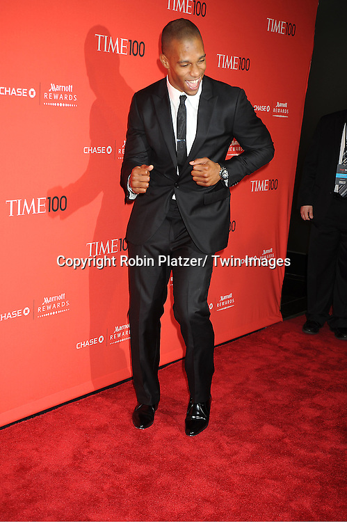 honoree Victor Cruz of The New York Giants doing the Salsa attends The Time 100 Most Influential People in the World Gala on April 24, 2012 at Frederick P Rose Hall at Lincoln Center in New York City. .