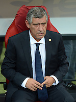 FUSSBALL  EUROPAMEISTERSCHAFT 2012   VORRUNDE Polen - Griechenland      08.06.2012 Trainer Fernando Santos (Griechenland)