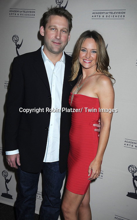 Sharon Case and boyfriend Trey Prevost attending the Television ...