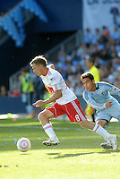 Red Bull defender Jan Gunnar Solli (8) in action...Sporting Kansas City defeated New York Red Bulls 2-0 at LIVESTRONG Sporting Park, Kansas City, Kansas.