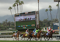 ARCADIA, CA  FEBRUARY 11:The field at the start of the Arcadia Stakes on February 11, 2017 at Santa Anita Park in Arcadia, CA. (Photo by Casey Phillips/Eclipse Sportswire/Getty Images)