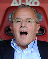 FUSSBALL   1. BUNDESLIGA  SAISON 2011/2012   1. Spieltag FC Augsburg - SC Freiburg            06.08.2011 Praesident Fritz Keller  (SC Freiburg)