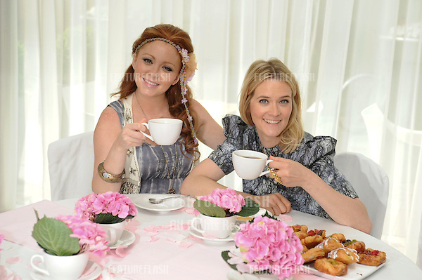 Natasha Hamilton and Edith Bowman.have morning tea to launch the JOHNSON'S Baby Celebrity Hand-Me-Down auction at St Martin's Lane Hotel, London. 25/05/2010  Picture by Steve Vas/Featureflash