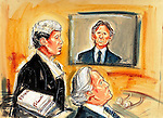 ©PRISCILLA COLEMAN ITN.SUPPLIED BY PHOTONEWS. 18.07.05.PIC SHOWS: ROMAN POLANSKI VIA VIDEO LINK, GRAYDON CARTER, EDITOR OF VANITY FAIR AND TOM SHIELDS QC. THE LIBEL TRIAL HAS STARTED TODAY AT THE HIGH COURT.