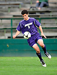 11 September 2009: University of Portland Pilots' defenseman/forward Logan Emory, a Senior from Boise, Idaho, in action against the University of Vermont Catamounts in the first round of the 2009 Morgan Stanley Smith Barney Soccer Classic held at Centennial Field in Burlington, Vermont. The Catamounts and Pilots battled to a 1-1 double-overtime tie. Mandatory Photo Credit: Ed Wolfstein Photo