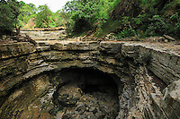 Giant sinkhole during the dry season, Ankarana National Park, Northern Madagascar