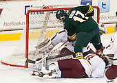 Jacob Fallon (UVM - 17) - The Boston College Eagles defeated the University of Vermont Catamounts 4-1 on Friday, February 1, 2013, at Kelley Rink in Conte Forum in Chestnut Hill, Massachusetts.