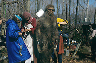 "Toronto area, Canada.1981. 80,000 years ago, the tribe who posessed fire, posessed life. A primitive tribe try to keep a natural fire source for survival.  This part of the movie was filmed in Canada.  ""Quest for Fire"" (La guerre du feu) by French director Jean-Jacques Annaud, and based on the novel of JH Rosny. Actors spent six hours a day for their makeup."