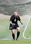 Kim Selz, NC State goalkeeper, on Sunday October 2nd, 2005 at SAS Stadium in Cary, North Carolina. The Duke University Blue Devils defeated the North Carolina State University Wolfpack 1-0 during an Atlantic Coast Conference women's soccer game.