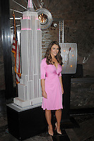 Elizabeth Hurley lights the Empire State Building in New York City