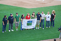 Representatives from Donate Life America at Comerica Park during the pre-game dedications and announcements.