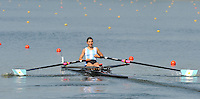 Brest, Belarus.  ARG BLW1X, Priscilla BERALDO. at the start.  2010. FISA U23 Championships. Thursday,  22/07/2010.  [Mandatory Credit Peter Spurrier/ Intersport Images]