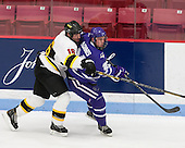 Jordan Bourgonje (WIT - 16), Dan McGinnis (Curry - 21) - The Wentworth Institute of Technology Leopards defeated the visiting Curry College Colonels 1-0 on Saturday, November 23, 2013, at Walter Brown Arena in Boston, Massachusetts.