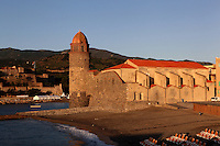 Eglise Notre Dame des Anges, Collioure, France. The bell tower was converted from a medieval lighthouse and the Mediterranean Gothic style nave was built in 1684. The dome was added to the bell tower in 1810. Picasso, Matisse, Derain, Dufy, Chagall, Marquet, and many others immortalized the small Catalan harbour in their works. Picture by Manuel Cohen.