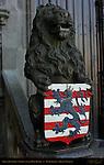 Lion of Flanders, Basilica of the Holy Blood, Burg Square, Bruges, Brugge, Belgium