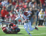 Arkansas wide receiver Joe Adams (3) runs against Ole Miss at Vaught-Hemingway Stadium in Oxford, Miss. on Saturday, October 22, 2011. .