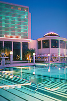 Caesars, Palace, Las Vegas, Fountain, Pool, Resort, lit at night, Casinos; Hotels; Strip; gambling; shopping, Dramatic Breathtaking Photo