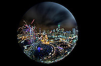 Thousands of people packed into Romare Bearden Park, in Charlotte, NC on New Year's Eve to welcome in 2016 and watch the fireworks, during the Crown Town Festival.<br /> <br /> Charlotte Photographer - PatrickSchneiderPhoto.com