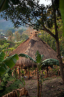 October 19th, 2011_ LACLUBAR, TIMOR-LESTE_ A traditional house sits in the Suco of Batara in the mountain town of Laclubar, Timor-Leste.  Photographer: Daniel J. Groshong/The Hummingfish Foundation
