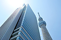 May 27, 2012, Tokyo, Japan - The newly opened Tokyo Skytree tower is seen in Tokyo on Sunday, May 27, 2012. Tokyo Skytree, the world's tallest broadcasting tower, and surrounding facilities had 564,000 visitors in its first weekend since opening last week. The good weather on both days helped push the figure above the initial forecast of about 400,000 visitors. (Photo by Masahiro Tsurugi/AFLO) -ty-