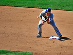 28 May 2011: San Diego Padres infielder Logan Forsythe in action against the Washington Nationals at Nationals Park in Washington, District of Columbia. The Padres defeated the Nationals 2-1 to even up their 3-game series. Mandatory Credit: Ed Wolfstein Photo