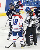 Blake Kessel (UNH - 20), Patrick Cey (Lowell - 19), Wayne Silva, Riley Wetmore (Lowell - 16) - The visiting University of New Hampshire Wildcats defeated the University of Massachusetts-Lowell River Hawks 3-0 on Thursday, December 2, 2010, at Tsongas Arena in Lowell, Massachusetts.
