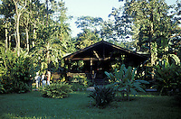 Main building of The Lodge at Pico Bonito near La Ceiba, Honduras. This is the most luxurious ecolodge in Honduras. It is  located in the buffer zone of the Parque Nacional Pico Bonito, the largest national park in Honduras.