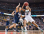 Apr. 1, 2012; Skylar Diggins drives to the basket in the second half of Notre Dame's 83-75 win over UConn in the Women's Final Four at the Pepsi Center in Denver, CO...Photo by Matt Cashore/University of Notre Dame