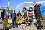 Roberto Ferrari (ITA) UAE Team Emirates at sign on for the 115th edition of the Paris-Roubaix 2017 race running 257km Compiegne to Roubaix, France. 9th April 2017.<br /> Picture: Eoin Clarke | Cyclefile<br /> <br /> <br /> All photos usage must carry mandatory copyright credit (&copy; Cyclefile | Eoin Clarke)