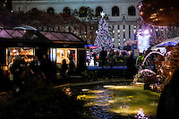 People visit Bryan Park decorated for Christmas holidays in New York, 12/9/2015 Photo by VIEWpress