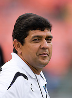 Saint Louis Athletica head coach <b>Jorge Barcellos</b> watches his team at RFK <b>...</b> - I0000BjlRdwyLHYQ