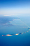 Stock photo of Aerial View on Karolino-Bugaz Spit between the Black Sea and Dnestr river 22 kilometers long spit Odessa region Ukraine Eastern Europe 2007 Vertical