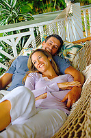 Couple in Tropical Hammock