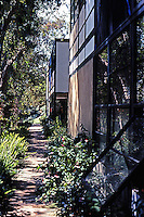 Charles Eames: House and Studio.  (House in background.)  Photo '78.