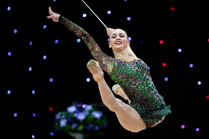 "February 14, 2016 - Tartu, Estonia - ANNA RIZATDINOVA of Ukraine wins gold in the Event Finals at ""Miss Valentine"" 2016 international tournament."